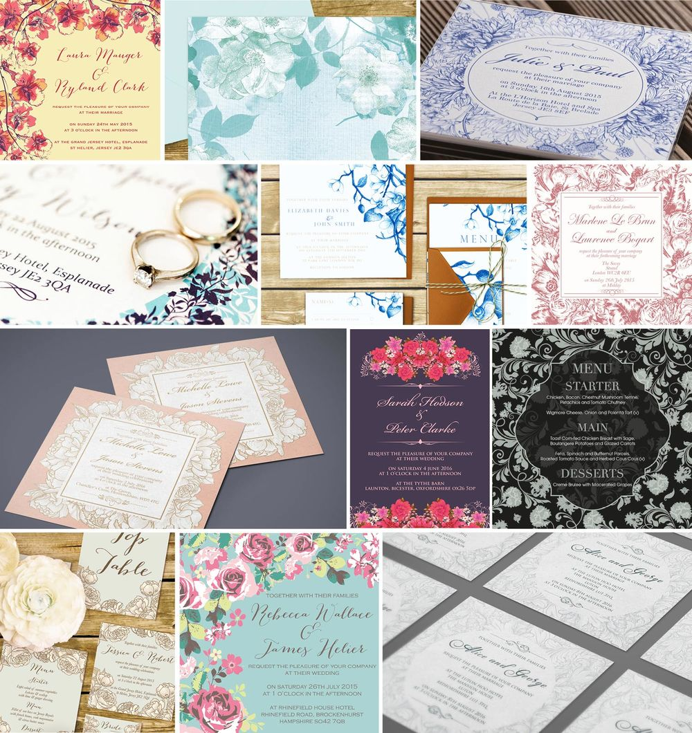 Ananya's range of floral invitations