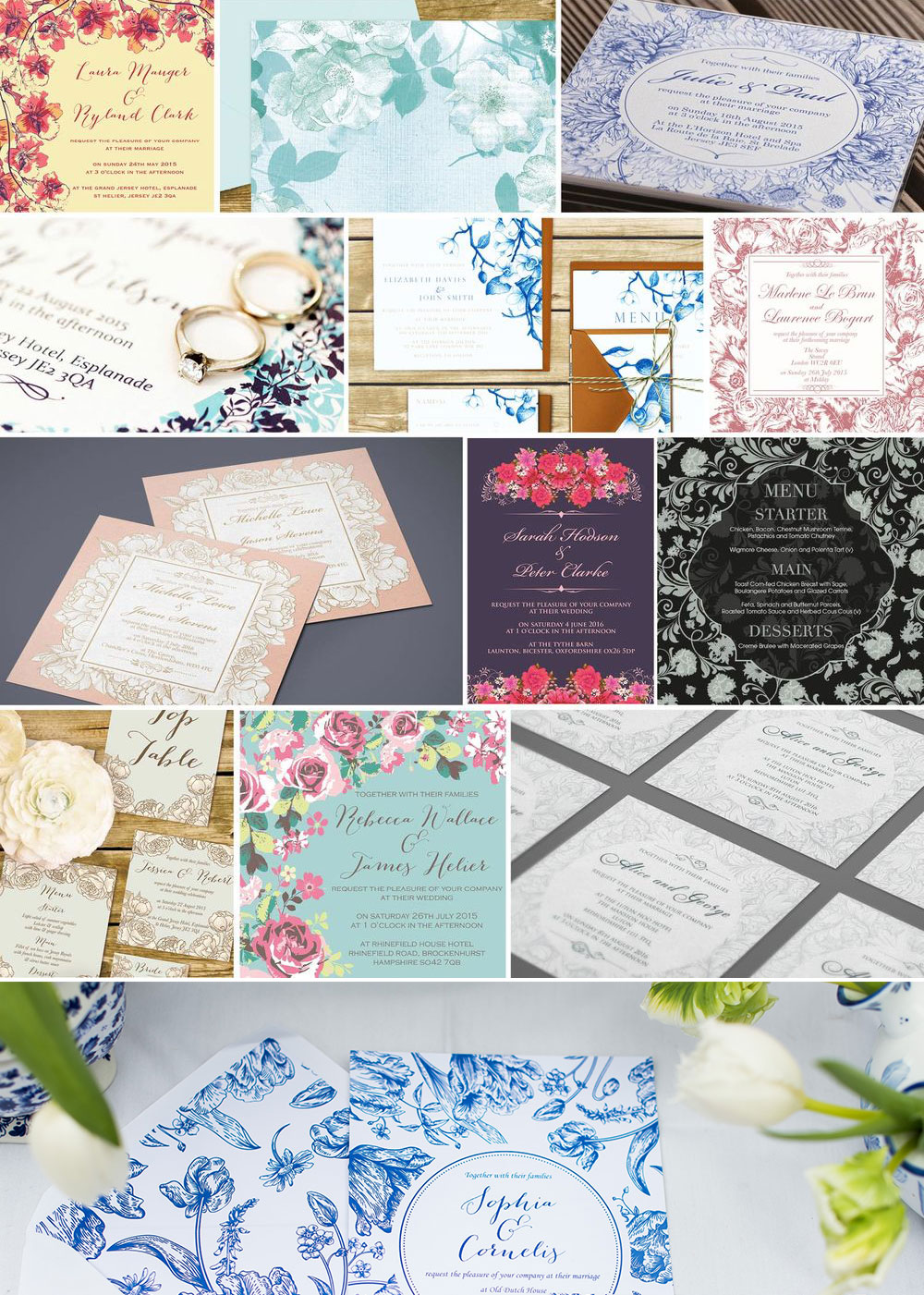 Floral Wedding Invitations by Ananya