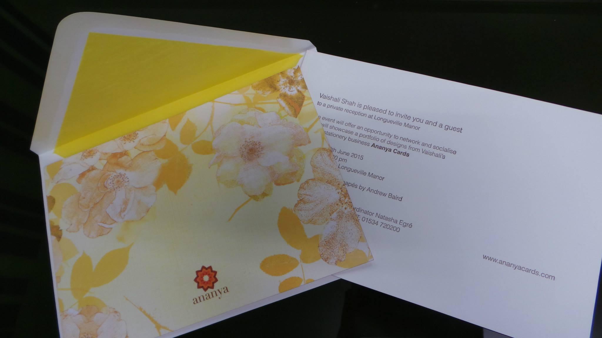Letterpress party invitation