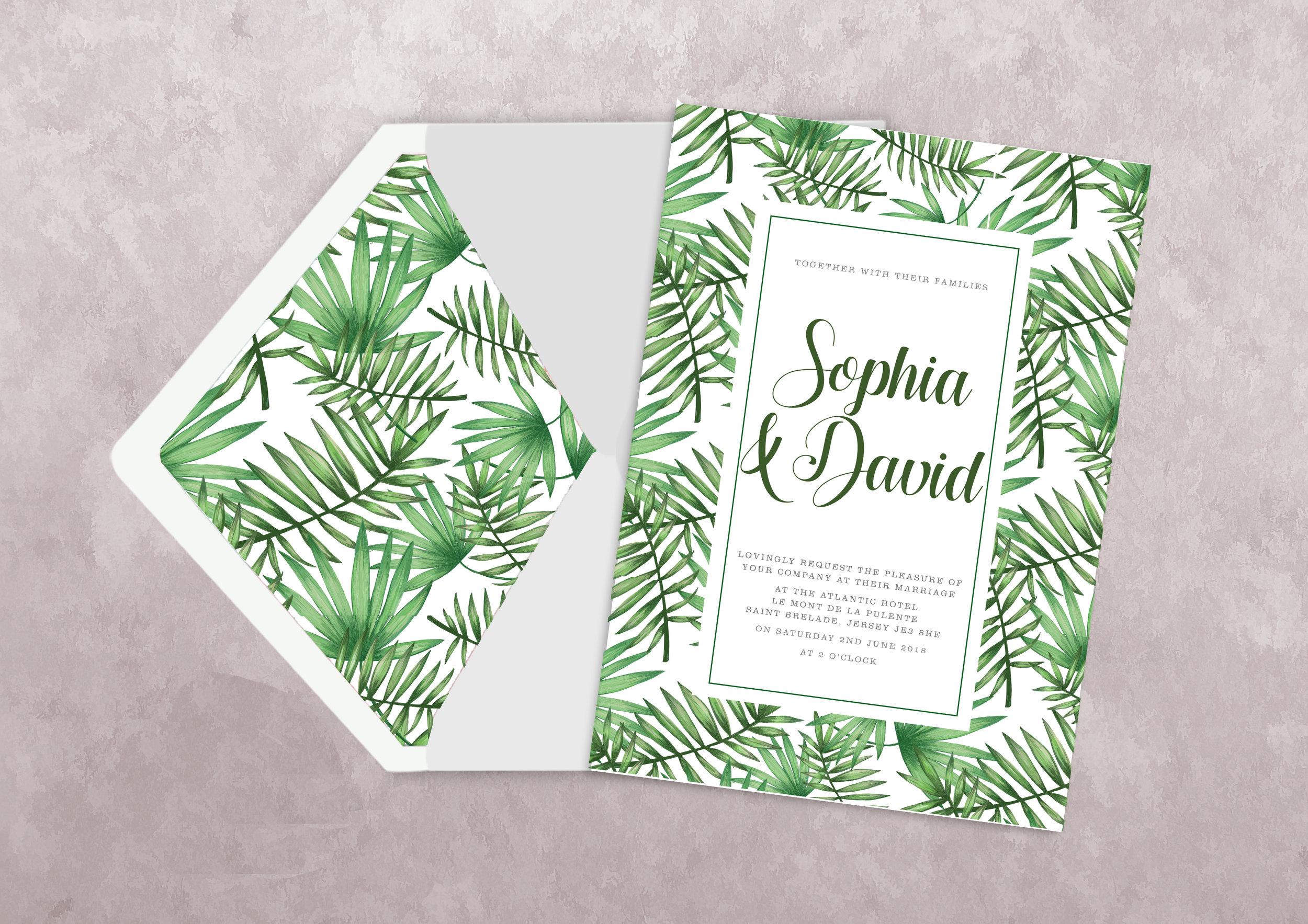 Offset/Litho printed wedding invitation