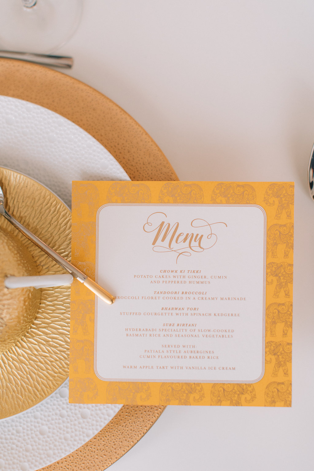 Ananya menu | Photography by  Holly Clark Photography