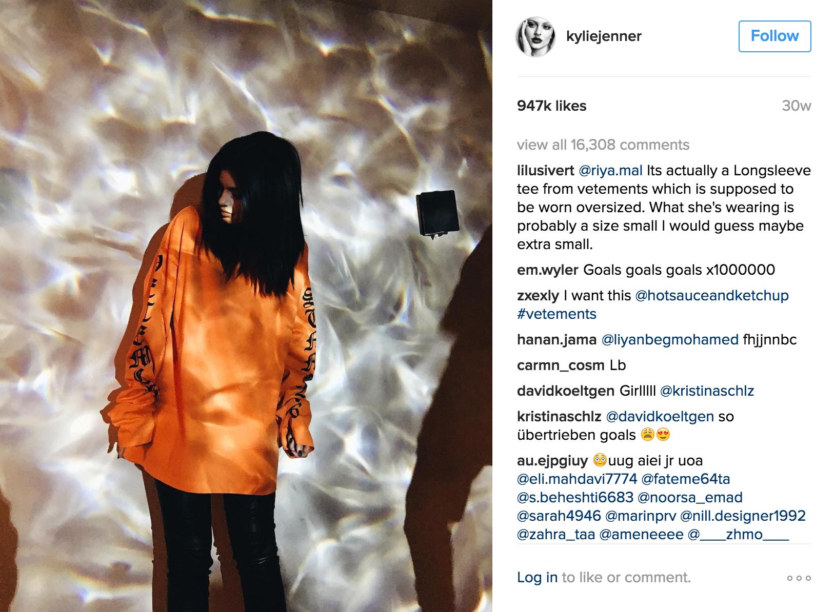 Kylie Jenner Instagram