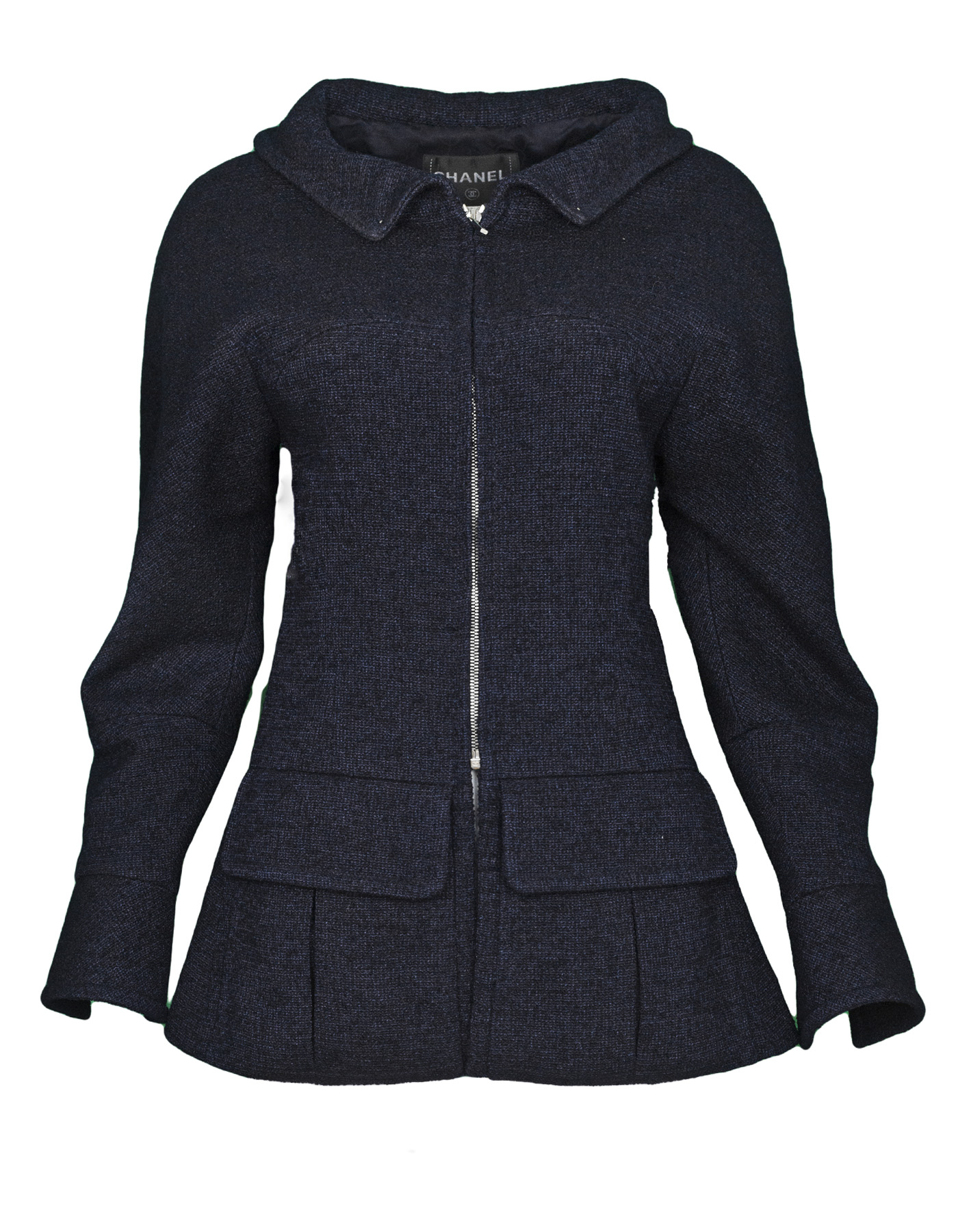 CHANEL 2012 navy zip up jacket w buttons 100-11713 5.jpg