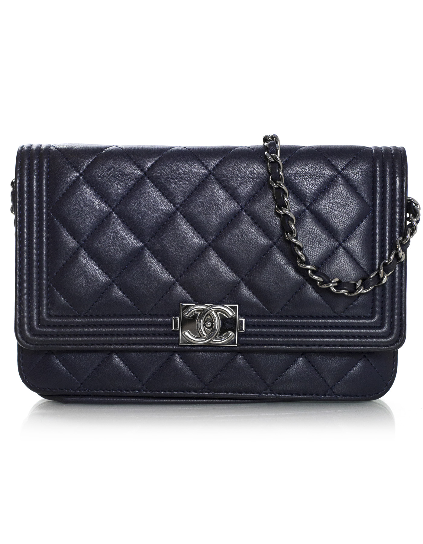 CHANEL WOC lambskin leather navy crossbody 100-11593 4.jpg