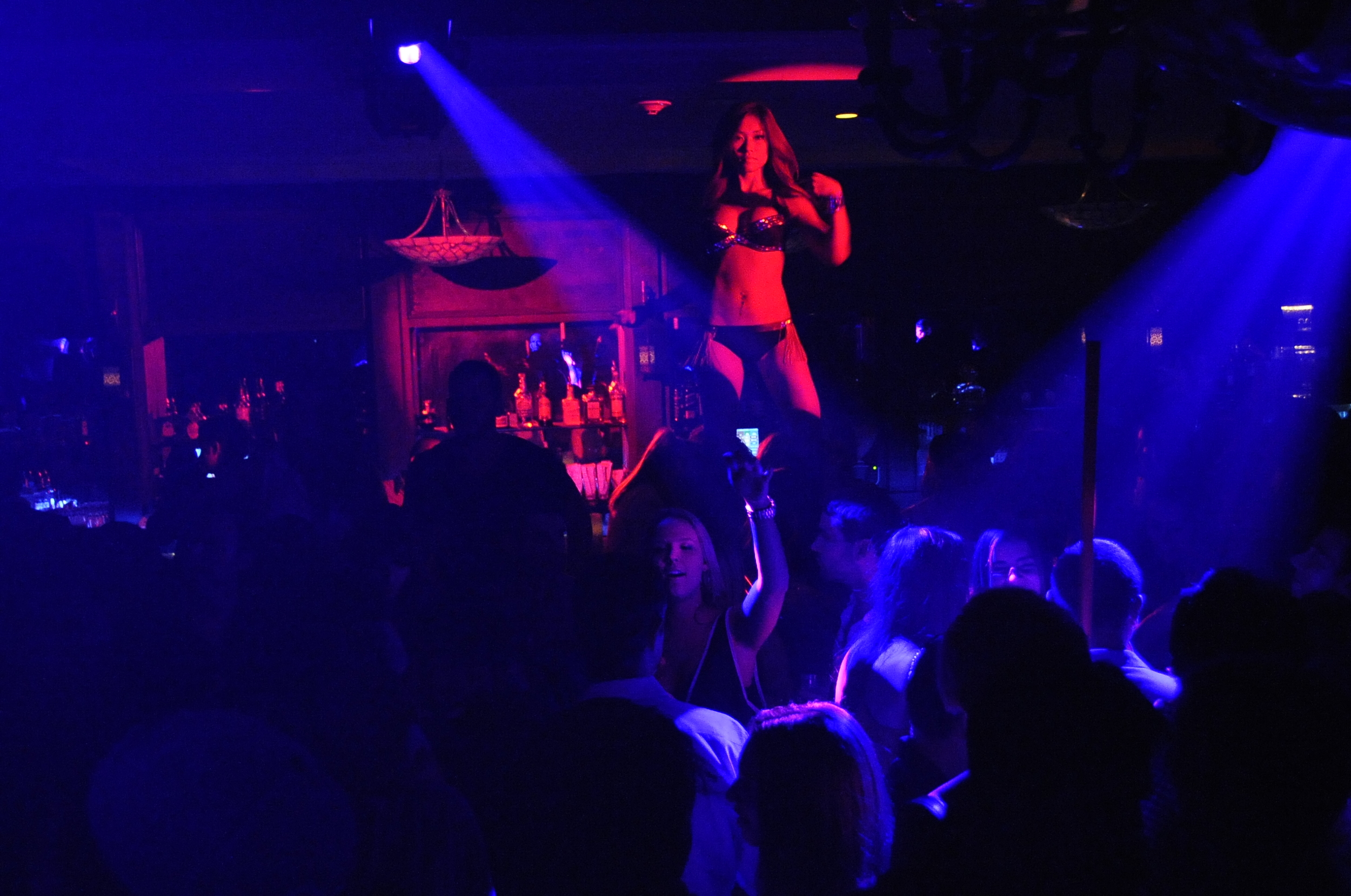 Dancer in 10oak nightclub in South Hampton