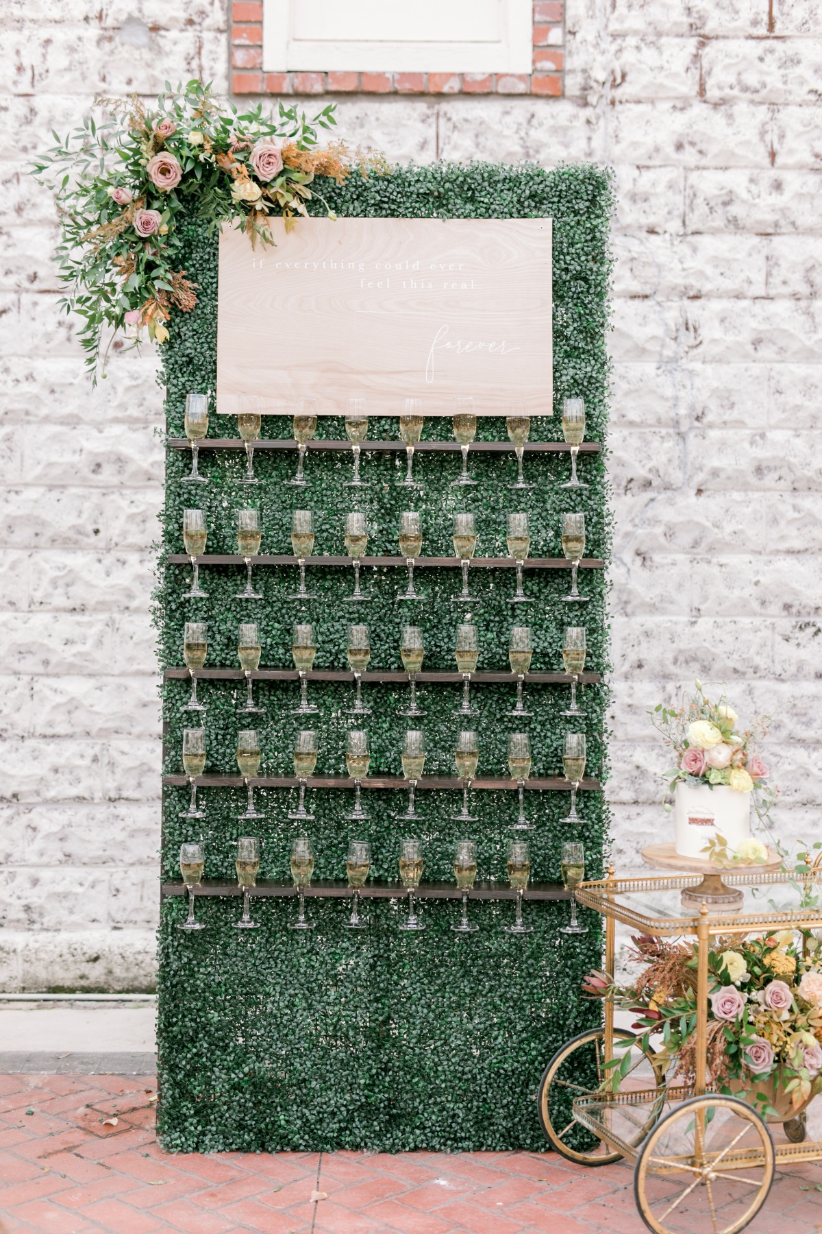 Image by Steph Smith Weddings, Champagne Wall by Paper Supply Co.
