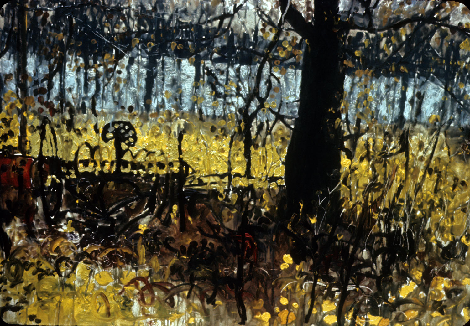 Landscape 2, 1968, Du Lac Deux Montagnes, oil on board.