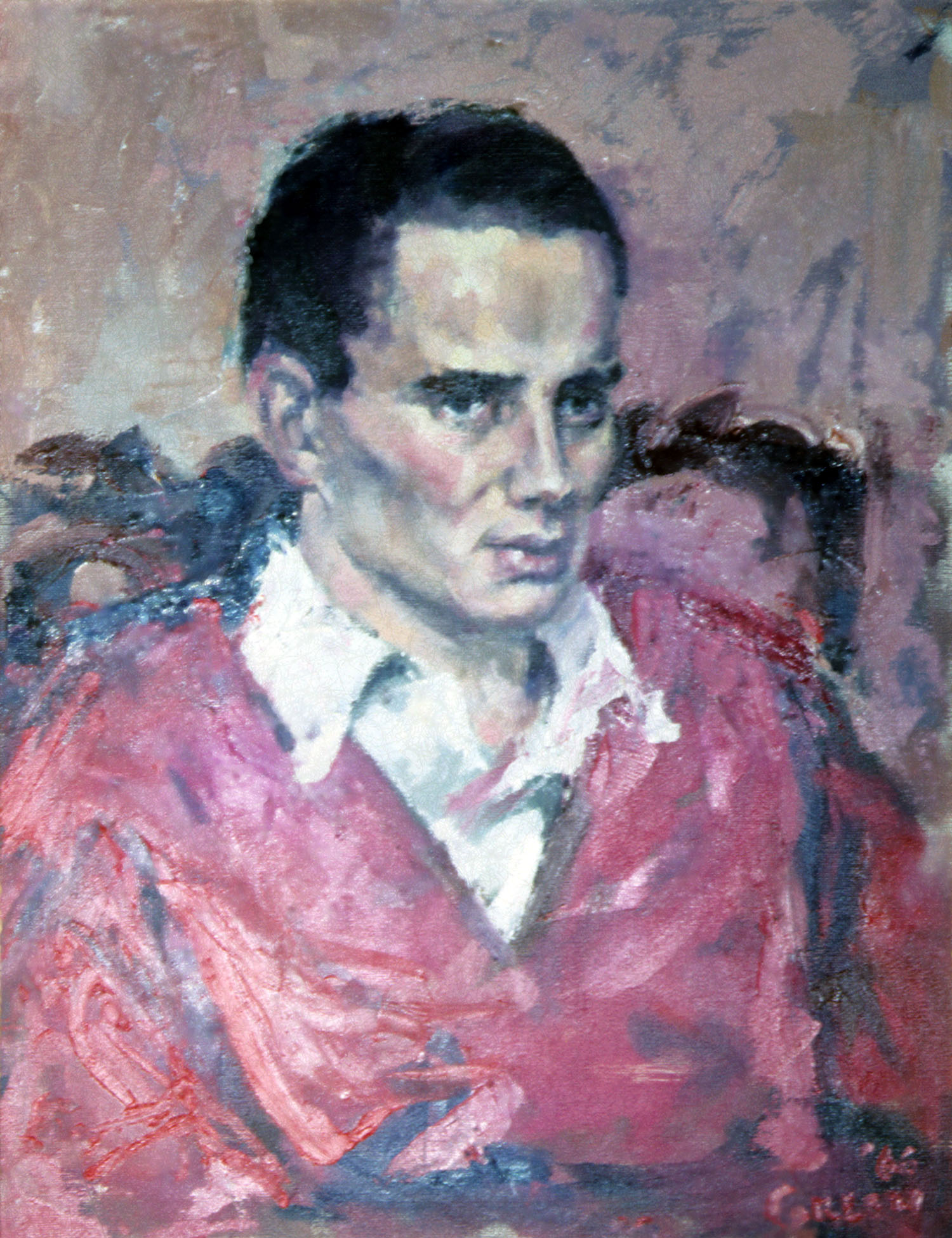 Early portrait 1, 1966, oil on canvas.