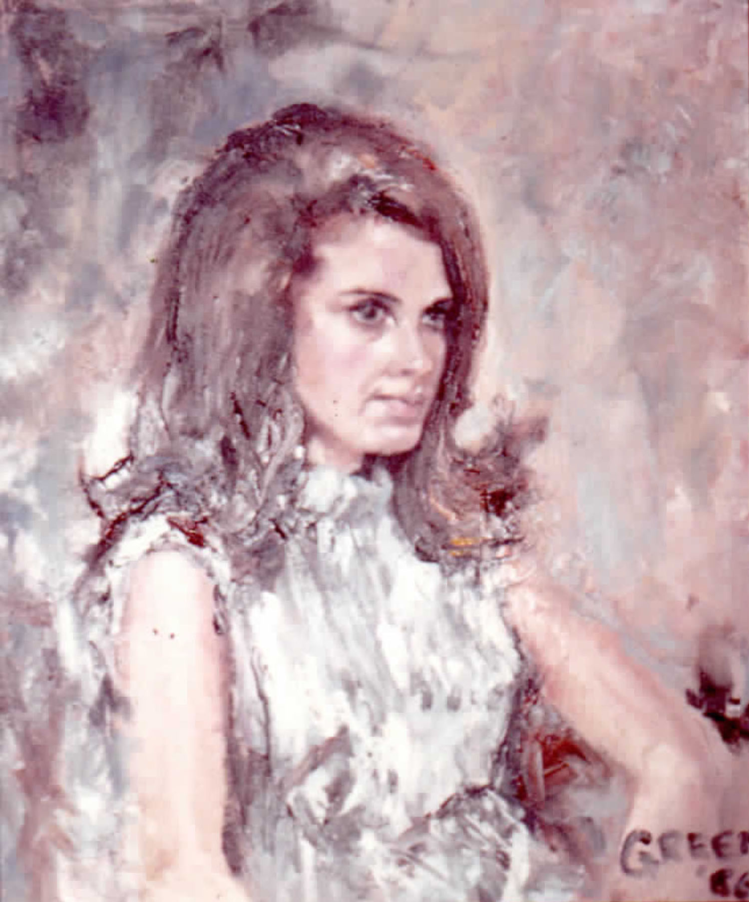 Early portrait 2, 1966, oil on canvas.