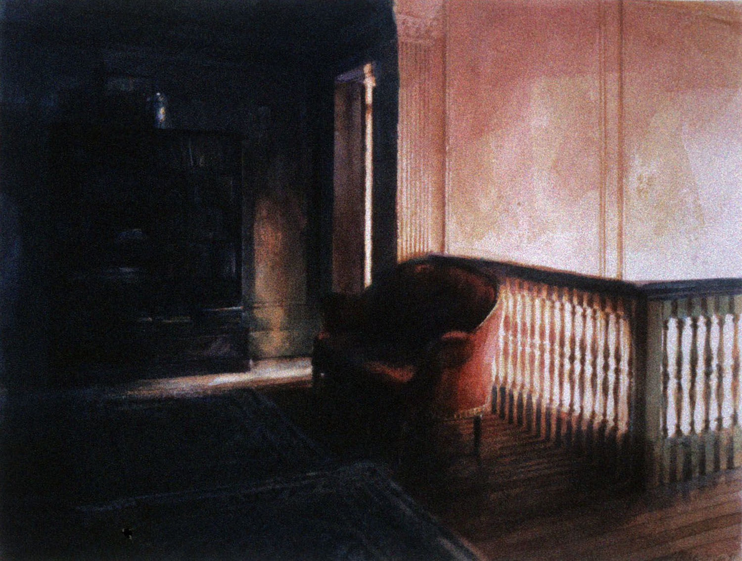 """""""Red chair at the top of the stairs"""" 1987."""