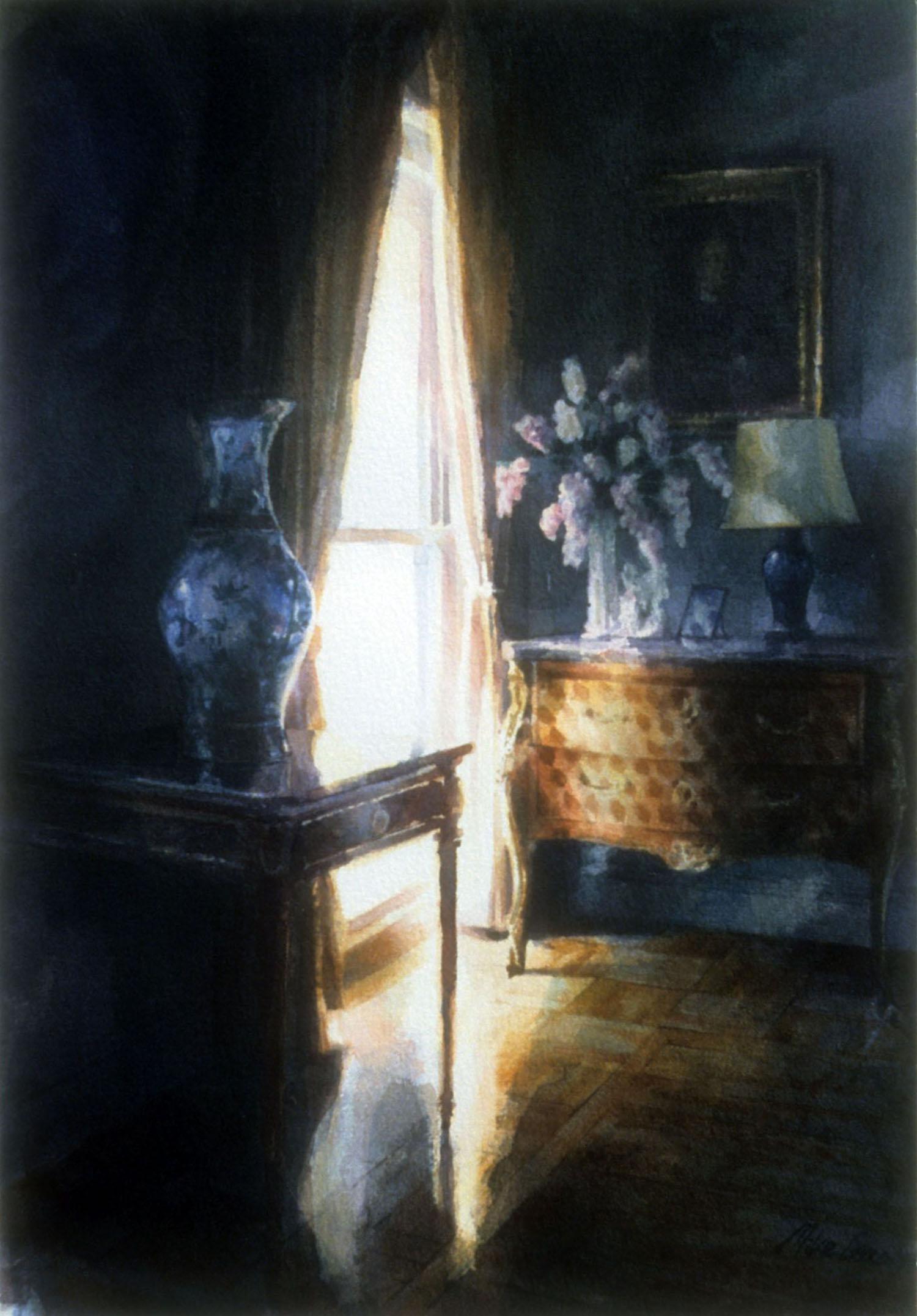 """Window with flowers"" 1987."
