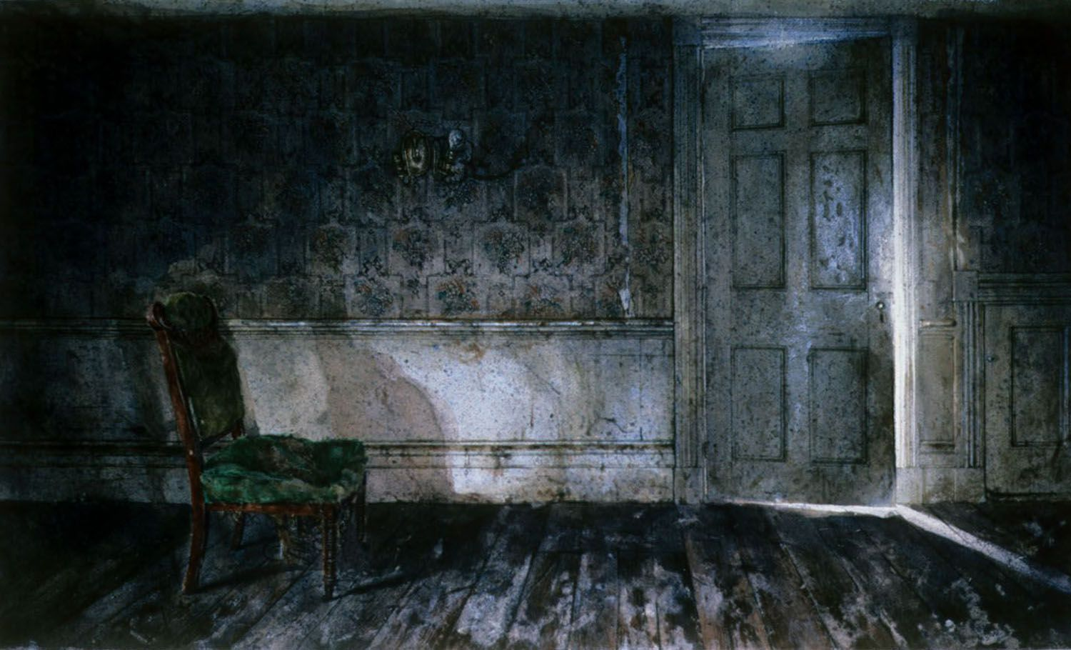 """""""Waiting space"""" 1982. 51 x 96"""