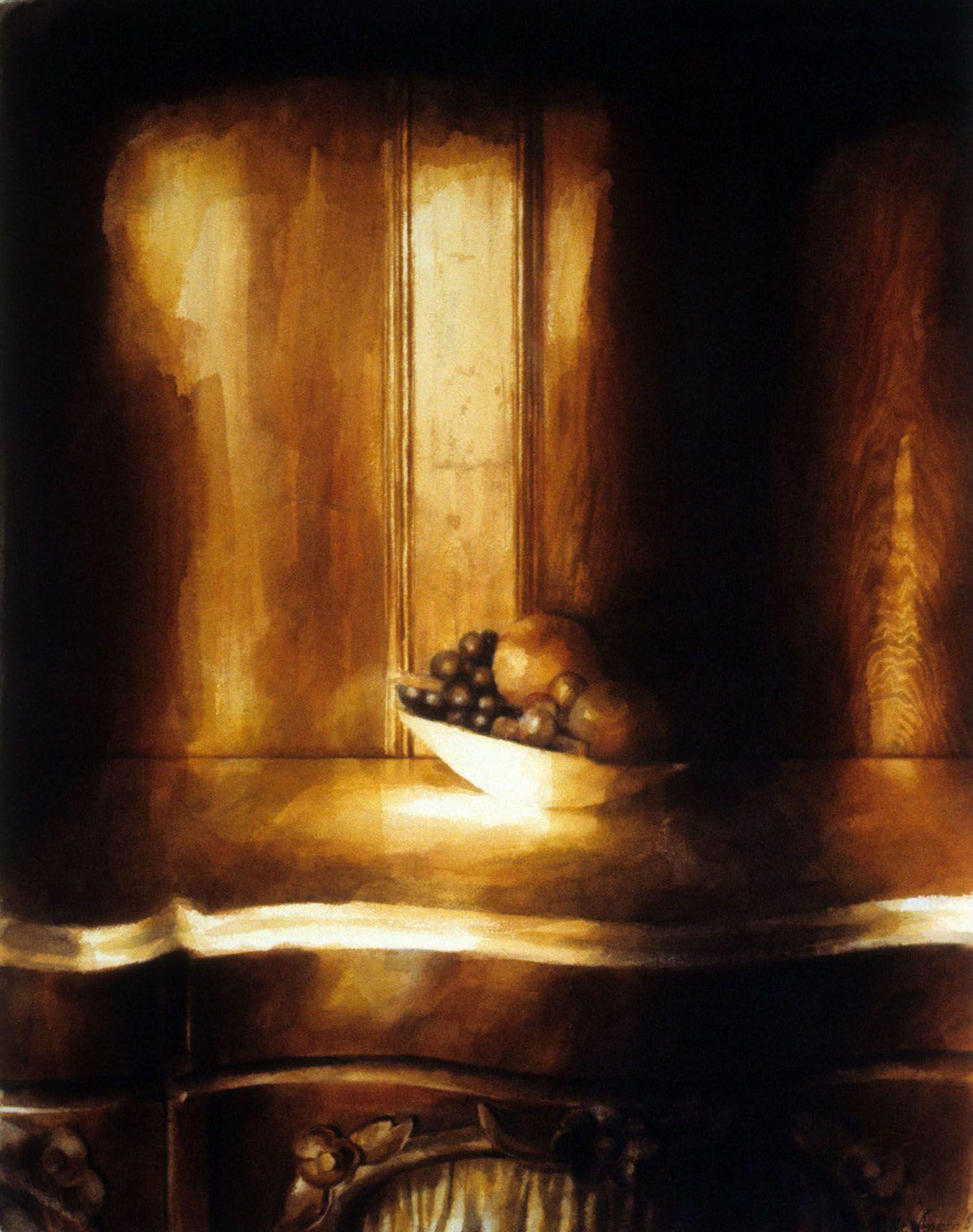 """"""" Artificial fruit"""" (Panelled study, Castle Rock) 1989. 37.5 x 4"""