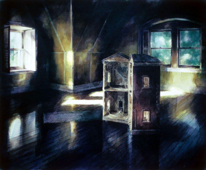 """""""Magritte's Attic, Castle Rock"""" 1991. 78 x 96cm"""