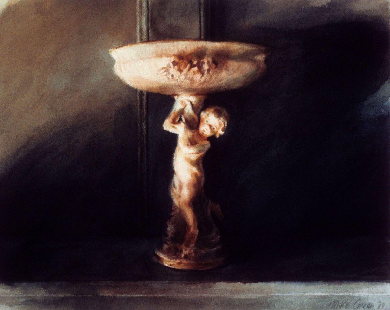 """""""Figurine (Dining Room, Castle Rock) 1989. 37.5 x 47cm"""