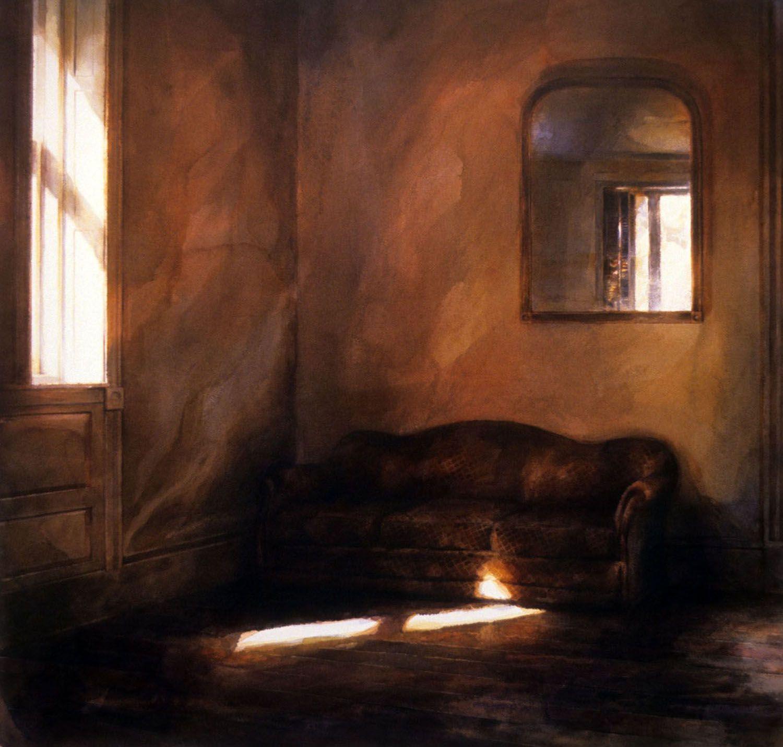 """Sofa and Mirror (Upper bedroom , Castle Rock)"" 1990."