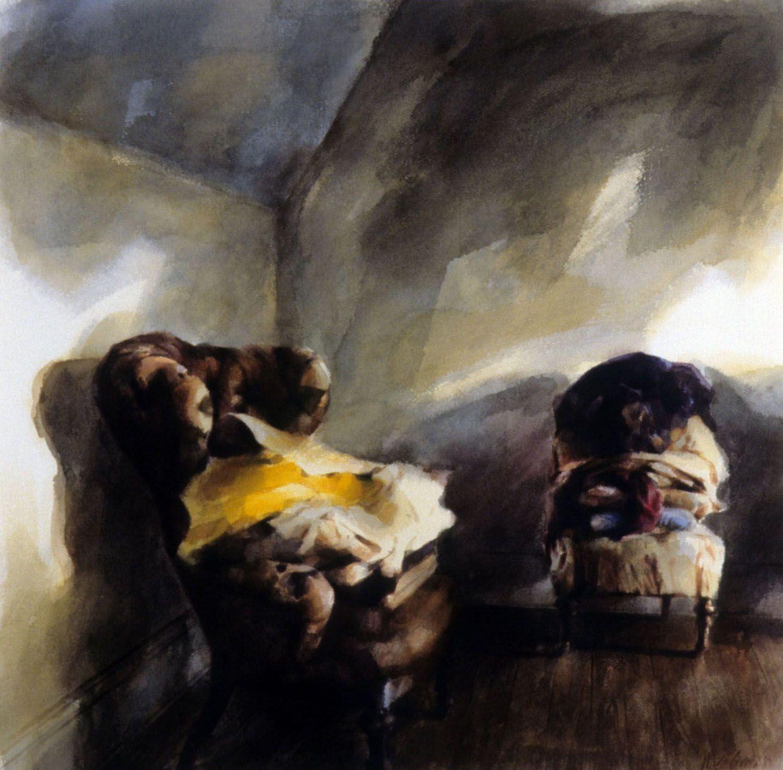 """Two Chairs and Belongings (Third floor room, Castle Rock)"" 1989"