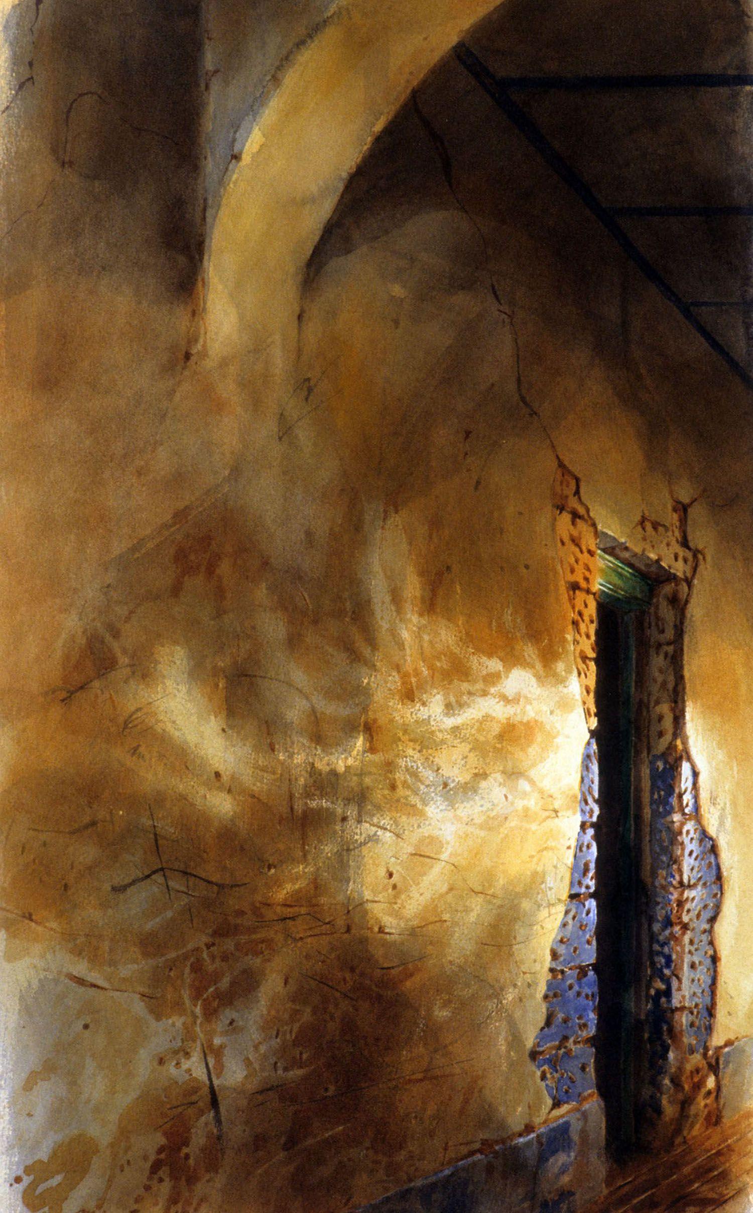 """Evening passage"" 1983.63.5 x 36"