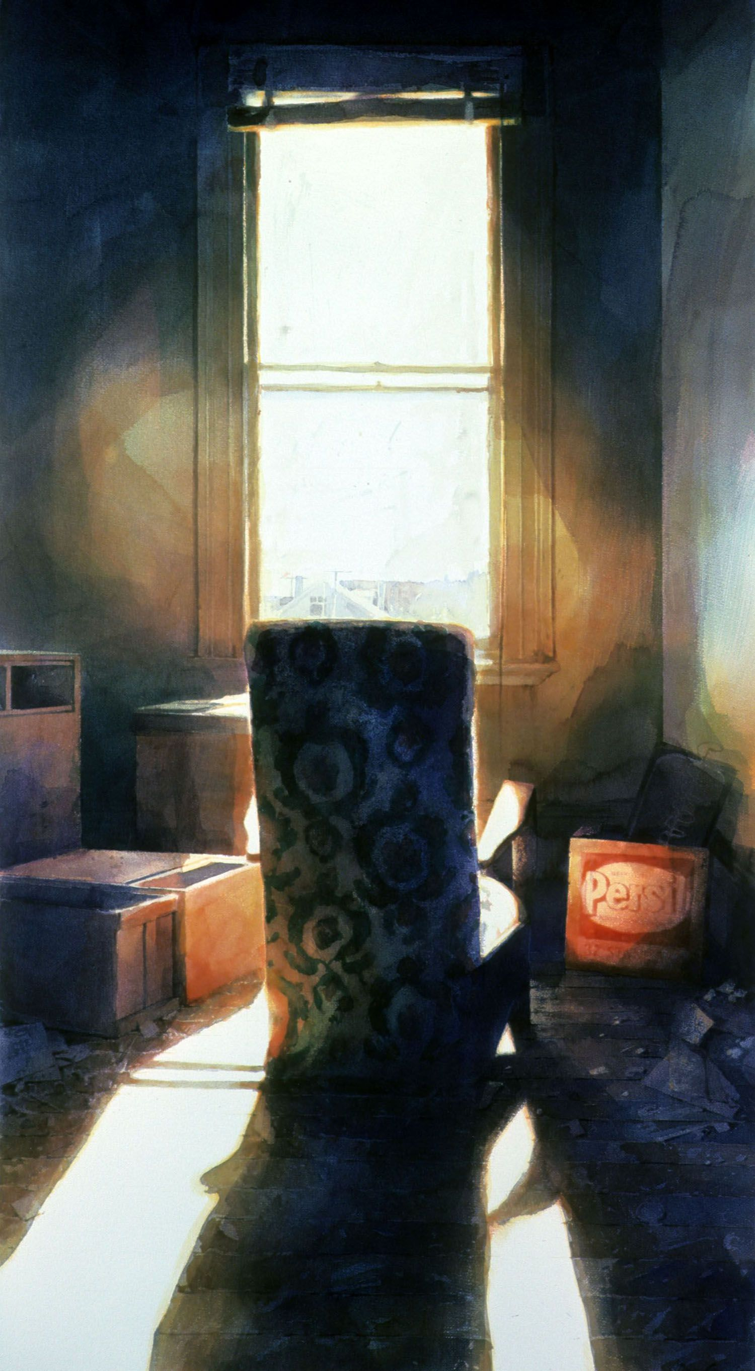 """""""Chair in the light of day"""" 1985. 131 x 66cm"""