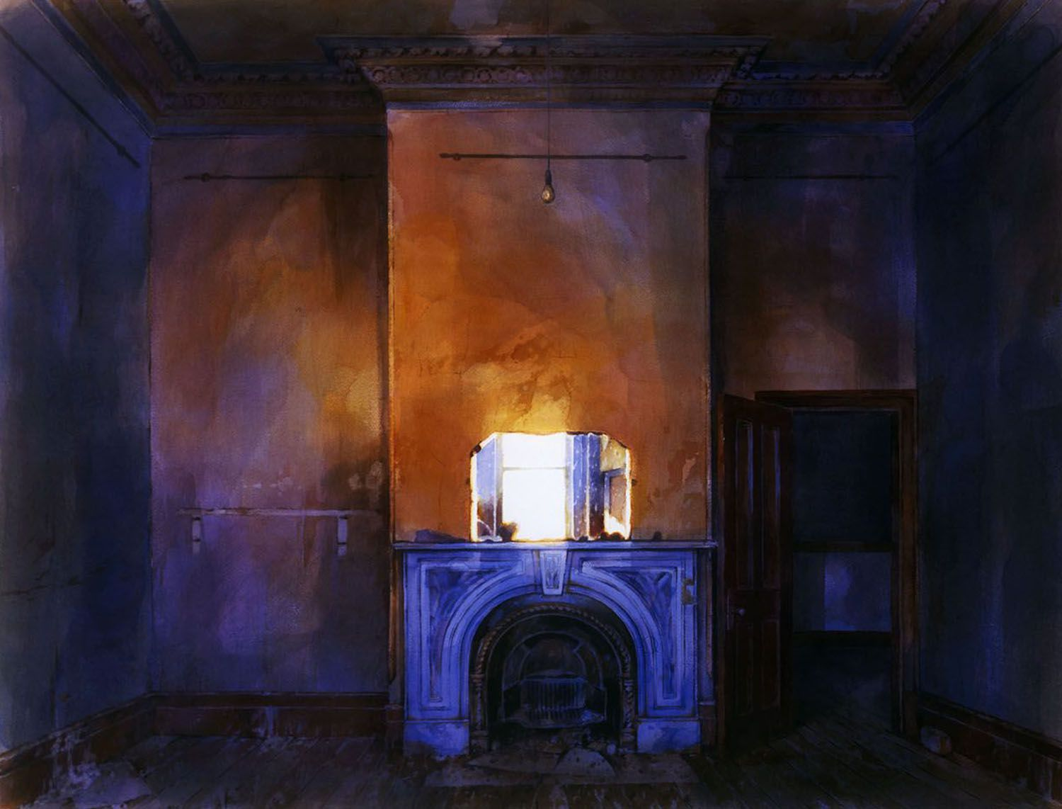 """""""Fireplace with blue and white"""" 1985"""