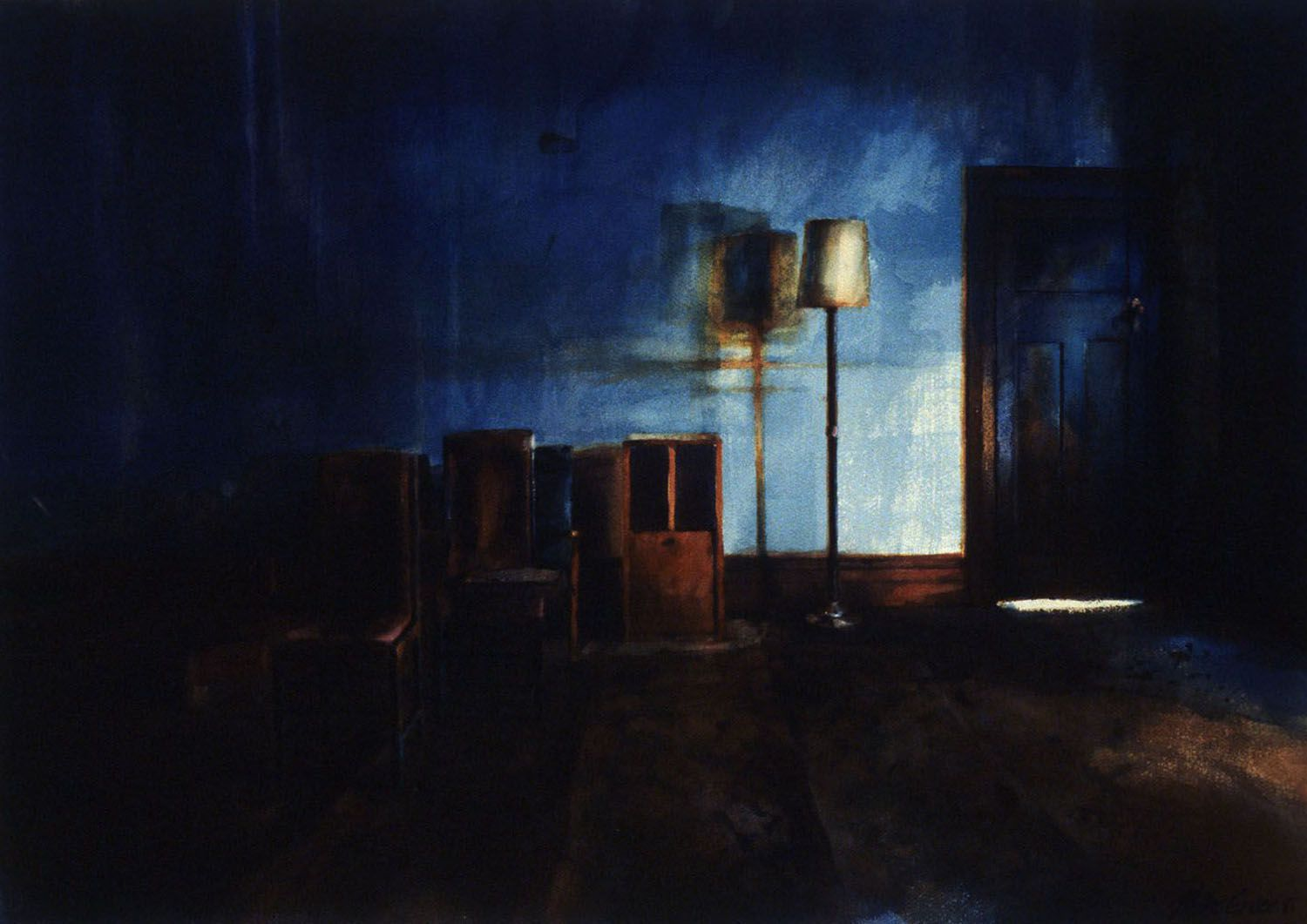 """""""Lamp with Blue"""", 1985.65 x 95cm"""