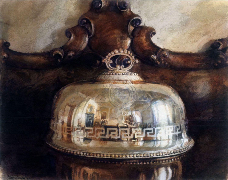 """Silver cover, Barwon Park"". 1991, 37 x 47cm"