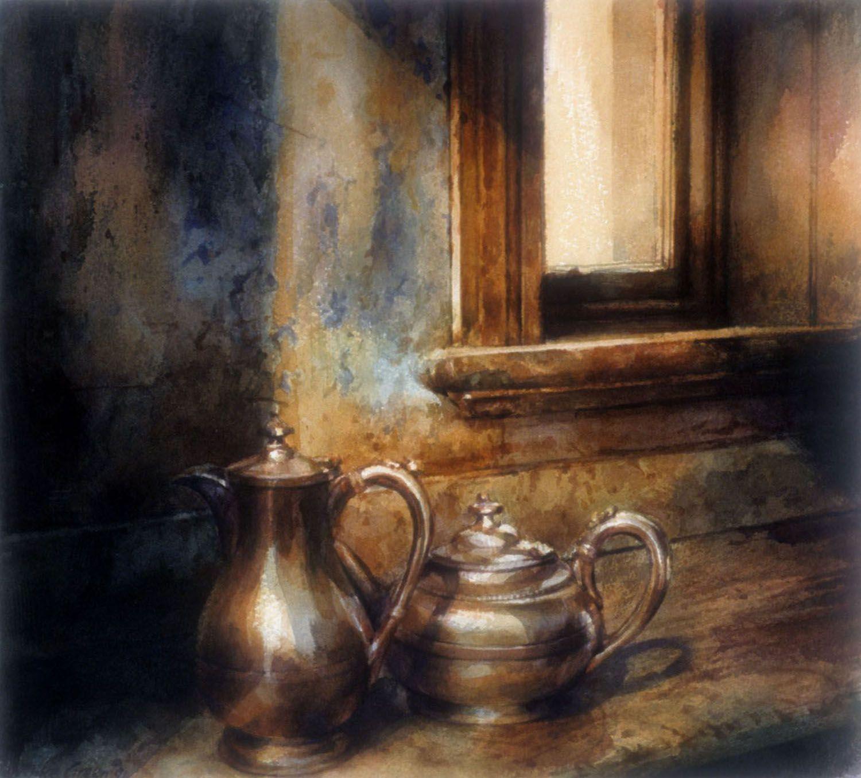 """""""Tea pots, Barwon Park"""" 1991. 31 x 35cm"""