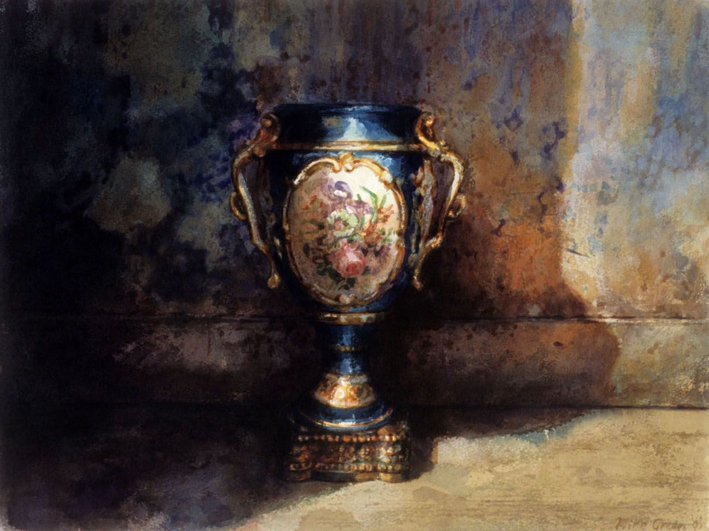 """Vase, Barwon park"" 1991. 32 x 43cm"