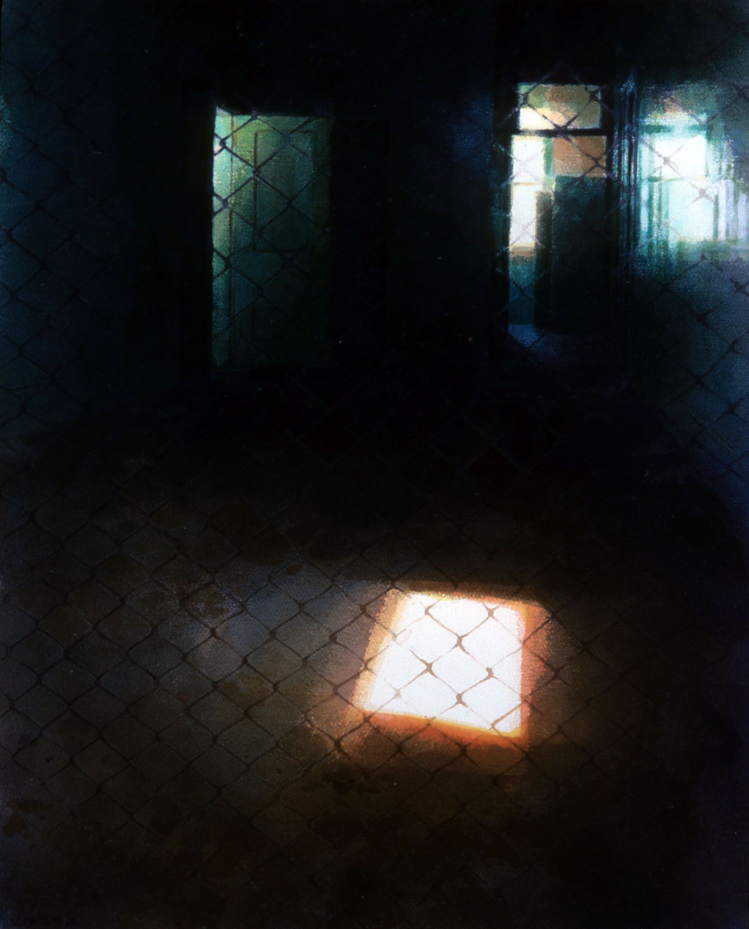 """""""Barred space 11"""" 1986. 73 x 55cm"""
