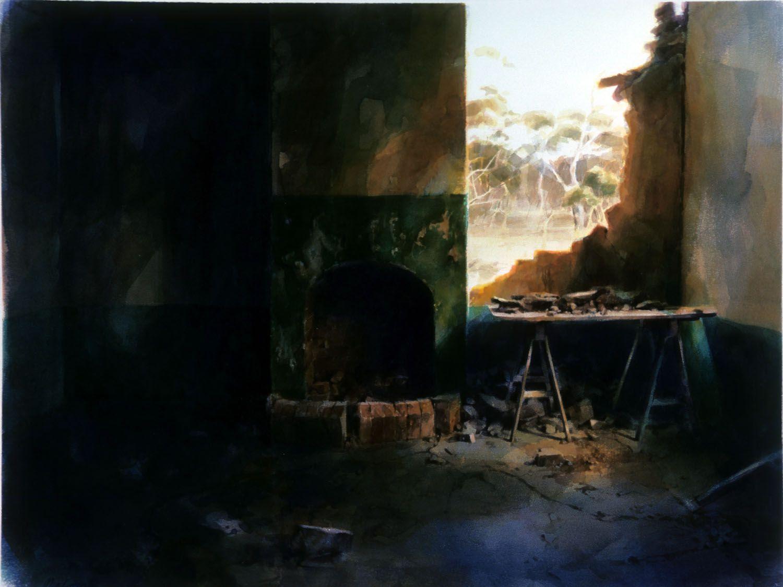 """Table with debris"" 1986. 88 x 117cm210"