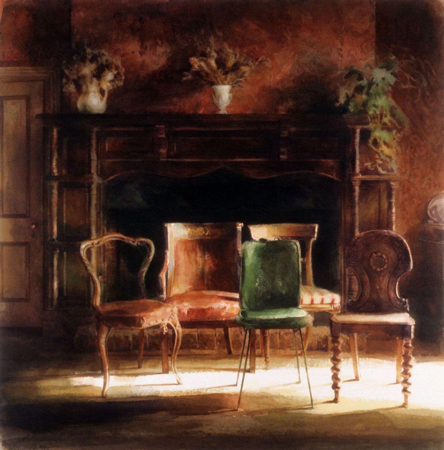 """Five Chairs"" 1990. 81 x 79cm"