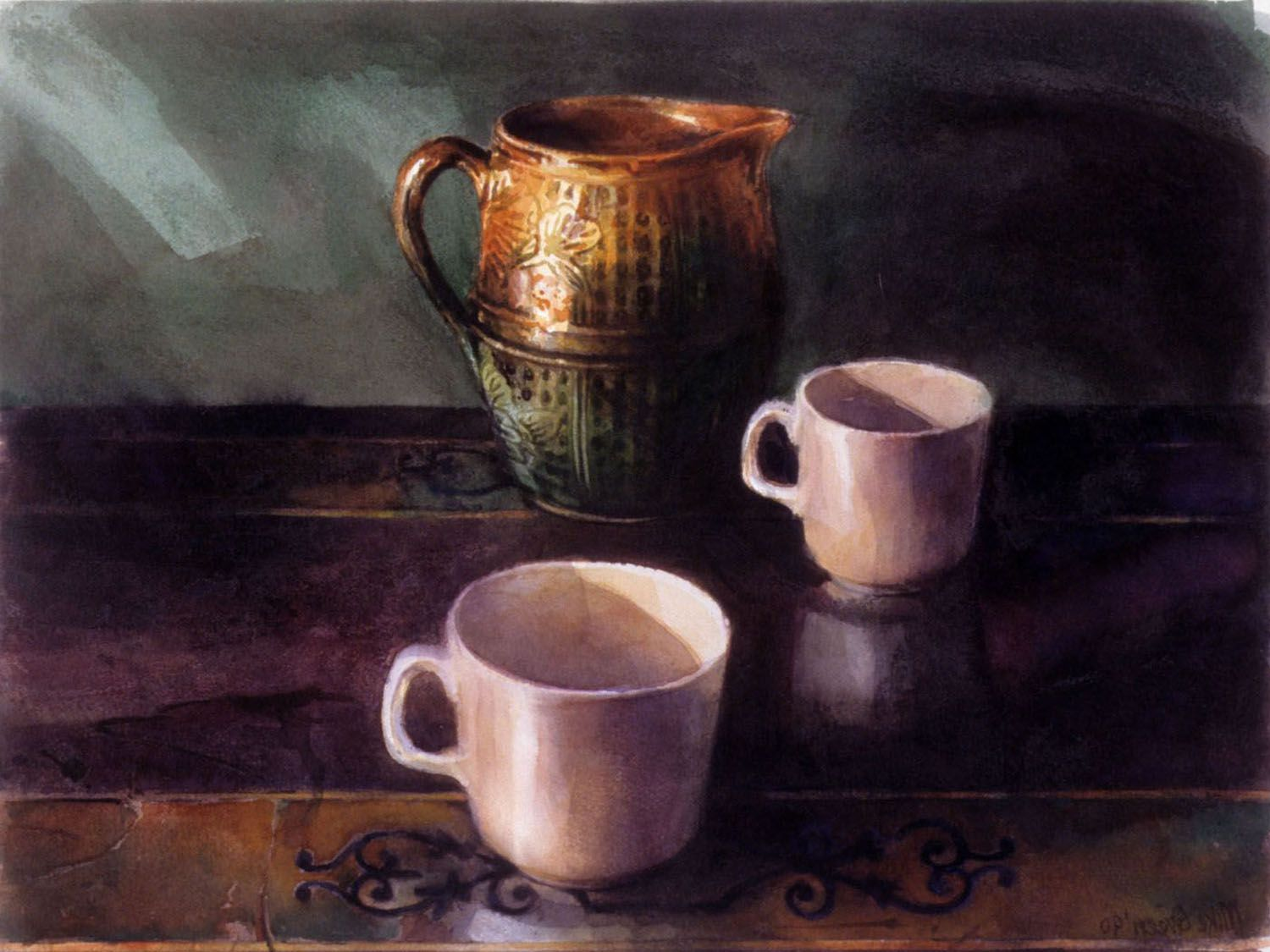 """""""Two cups and jug"""" 1990."""