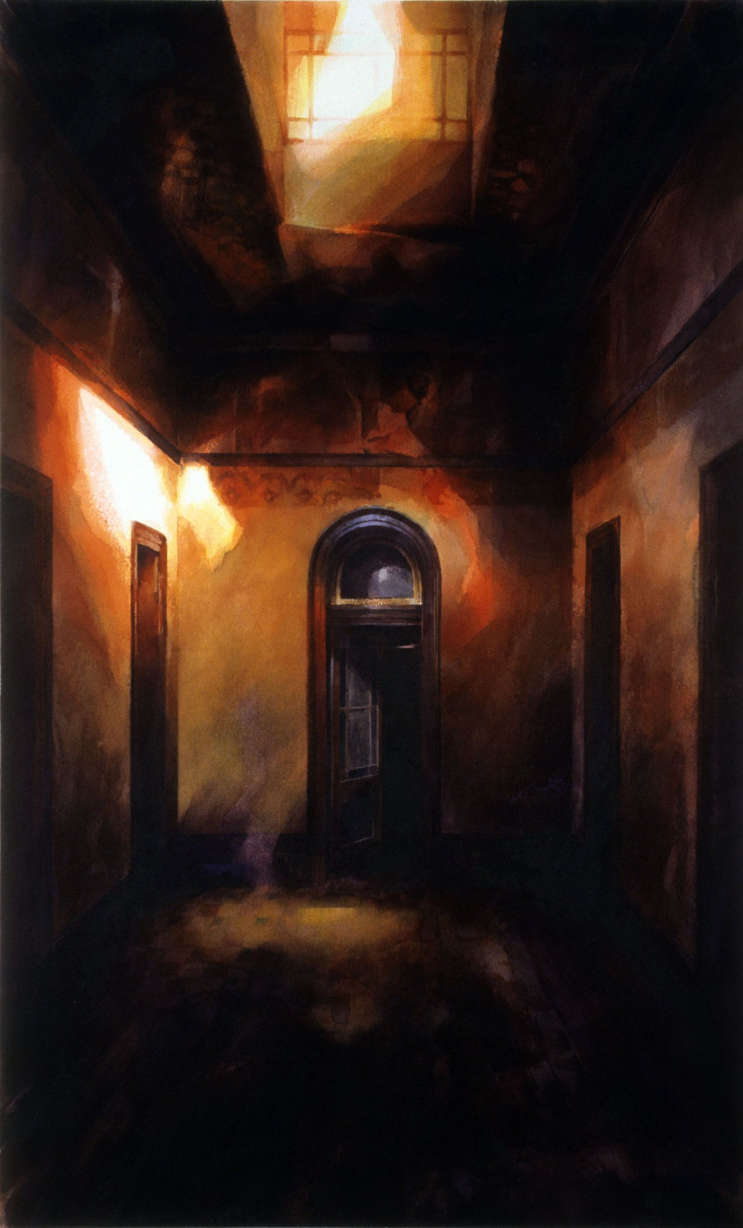 """""""Room with five doors' Werribee Park"""" 1988, 133 x 81cm"""