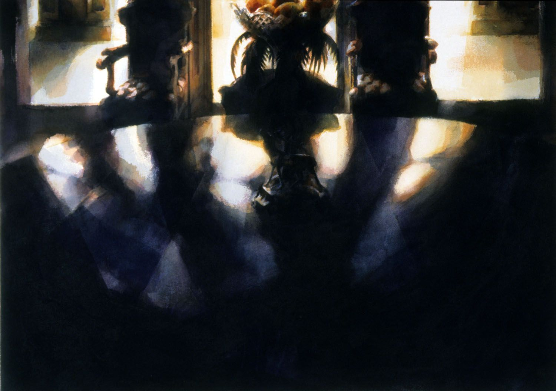"""Table top, Werribbee Park"" 1988, 70 x 97cm"