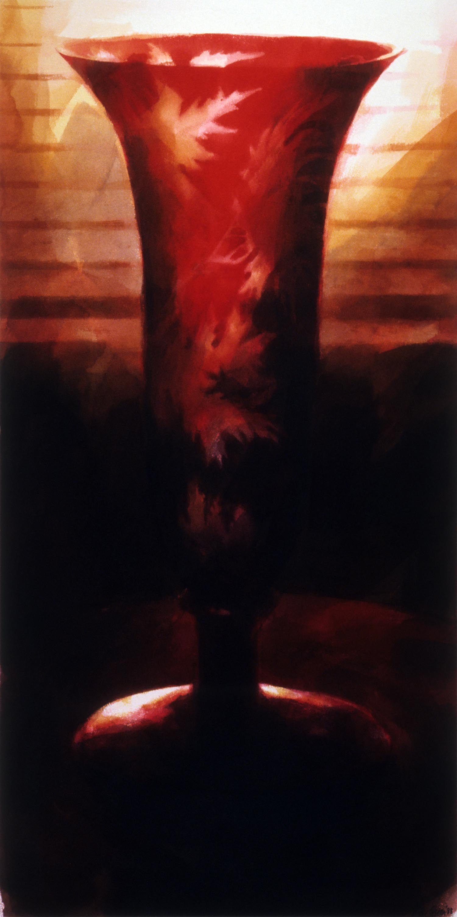 """""""Vase, Werribee Park"""", 1988. 126 x 63cm. (1)"""