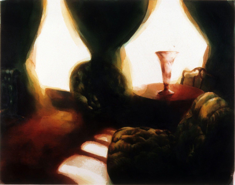 """Winter afternoon, Werribee Park"" 1988. 79 x 100cm"