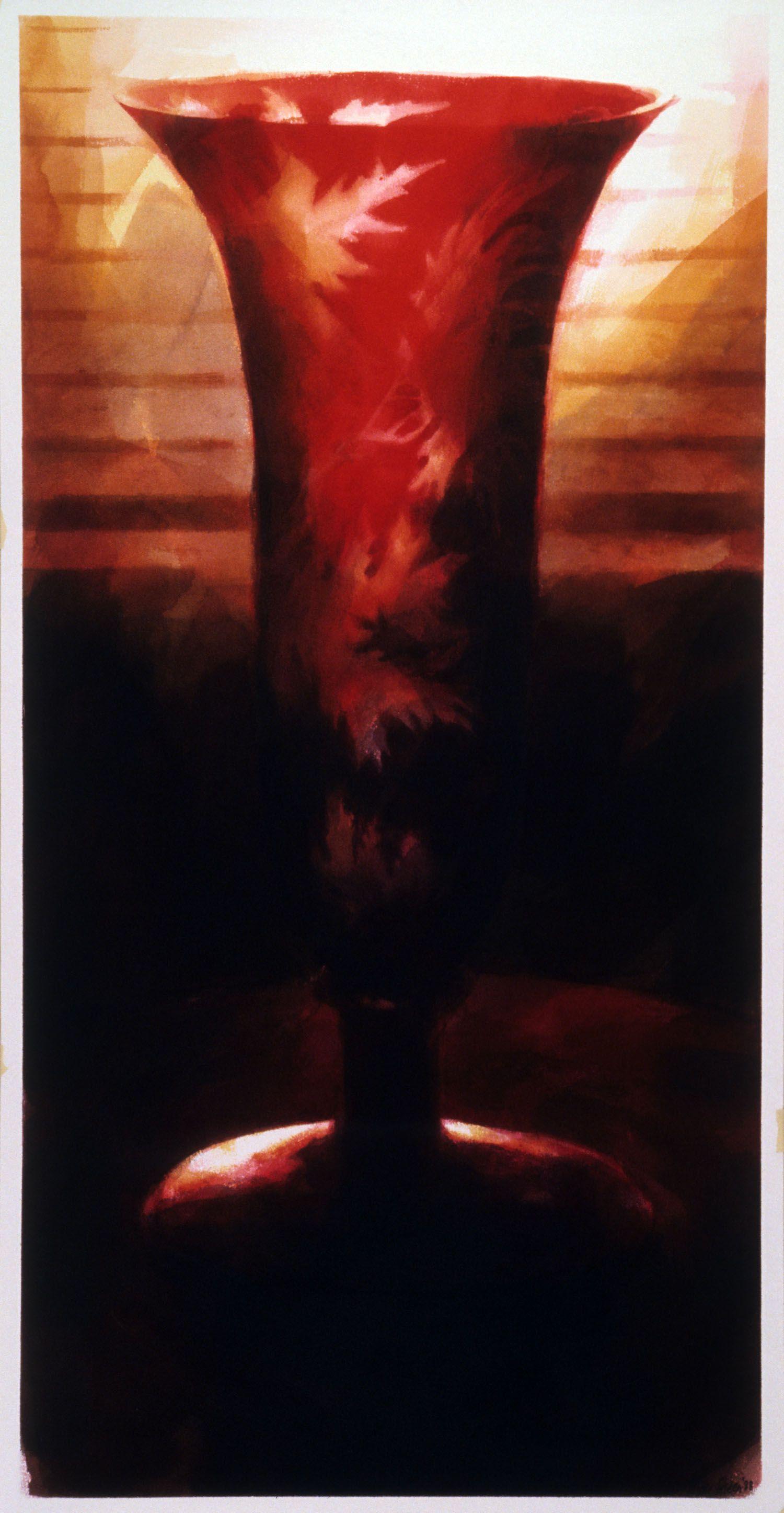 """""""Vase, Werribee Park"""", 1988. 126 x 63cm."""