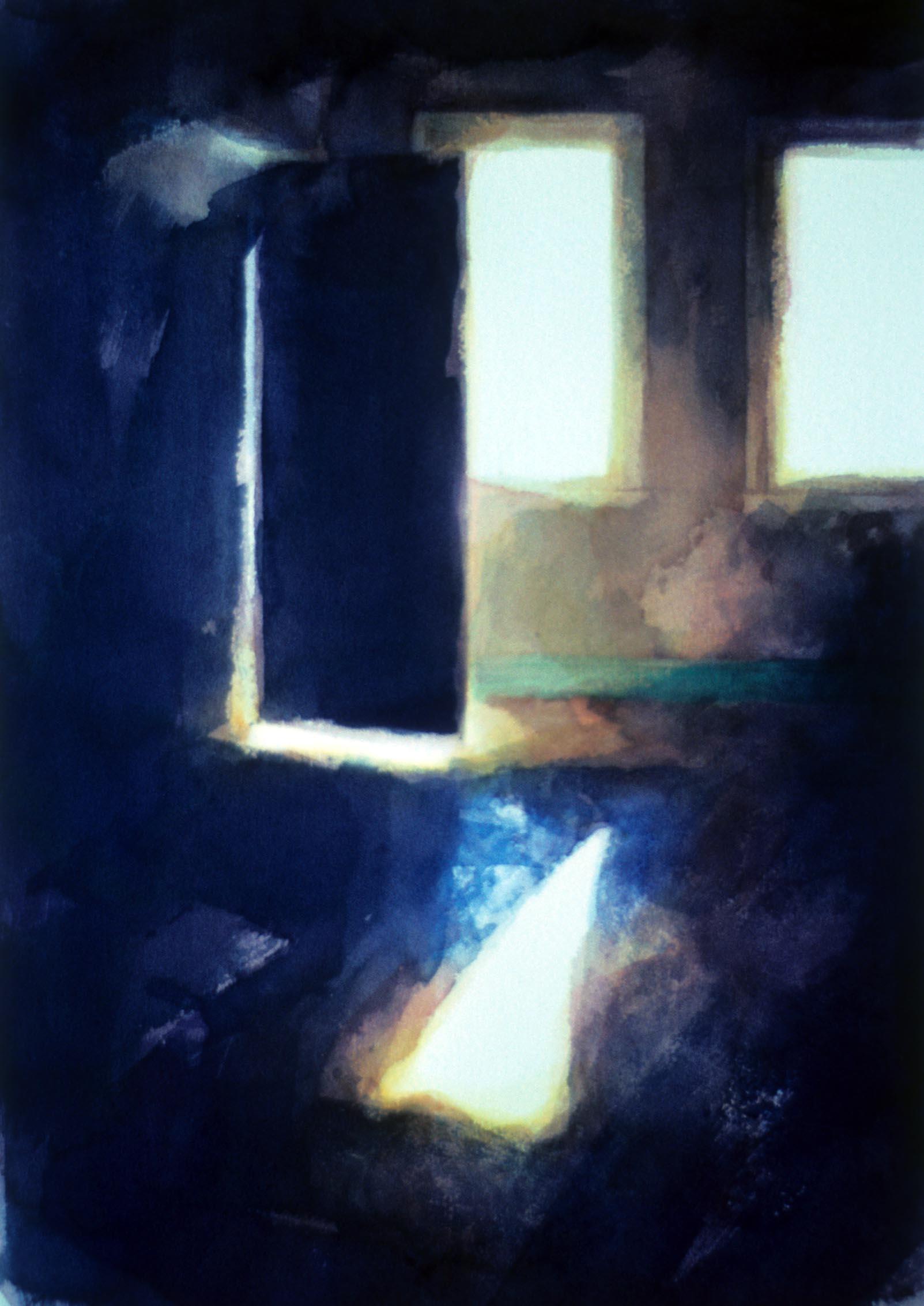 """Room with two windows, Werribee park""' 1988. 53 x 36cm"