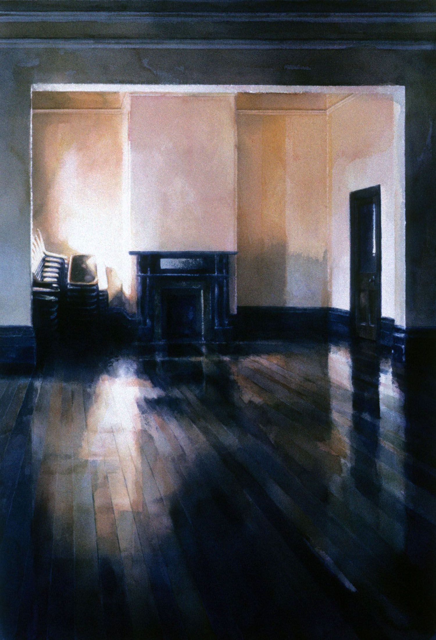 """Ballroom at The Peninsula"" 1987. 106 x 77cm"
