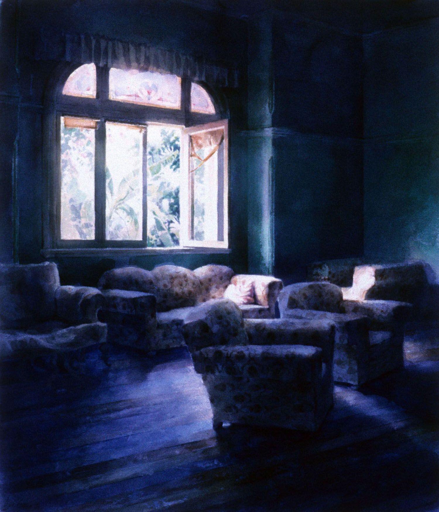 """Green Room, Peppermint Grove. 1987. 99 x 83cm"