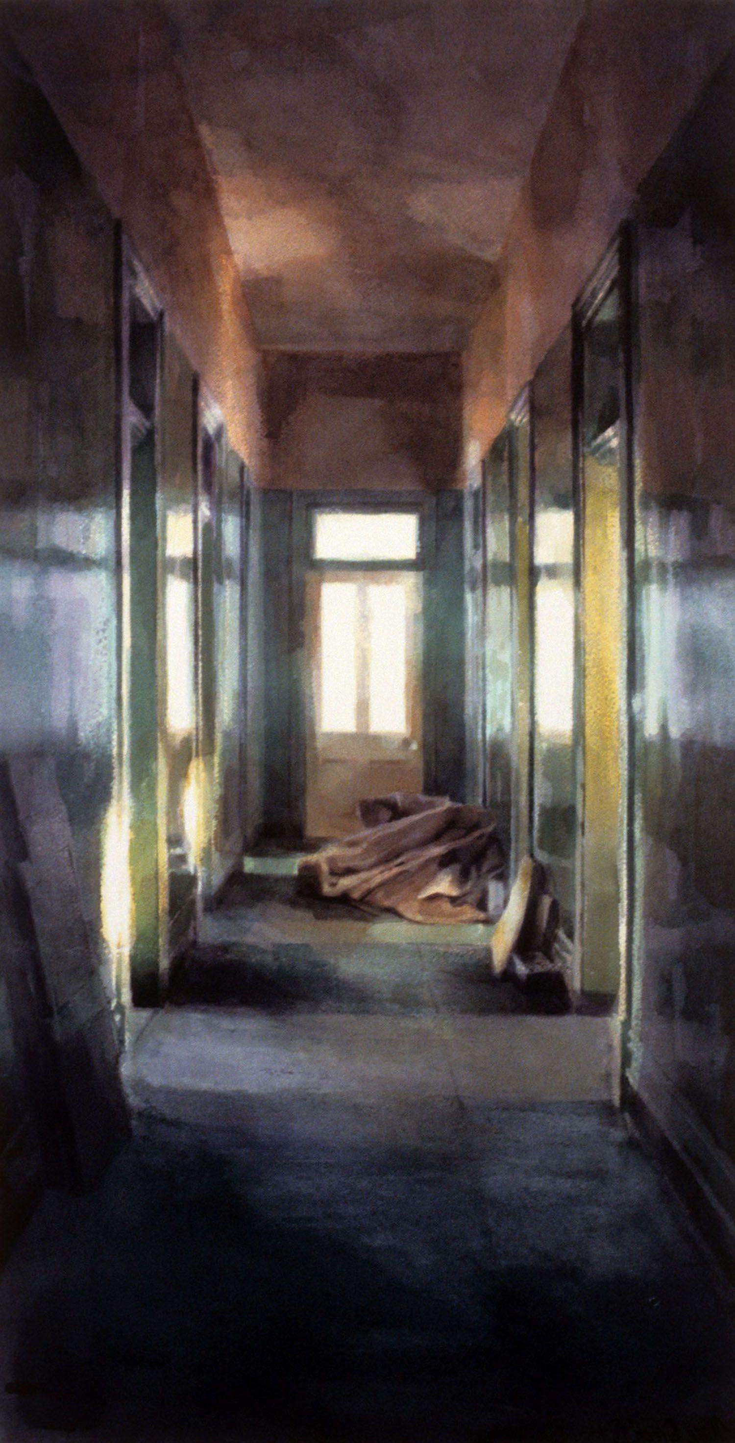 """Green Hallway""1987. 72 x 36cm"
