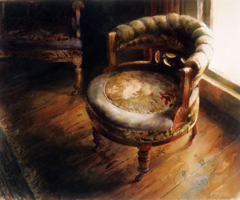 """"""" Round chair"""" 1990. 55 x 68cm"""