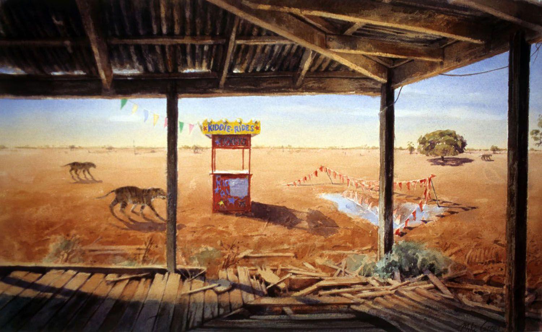 """""""Kiddie Rides"""" 1994. 39 x 66cm"""