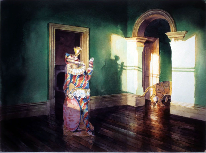 """""""The Clown"""" 1993. 51 x 69cm"""