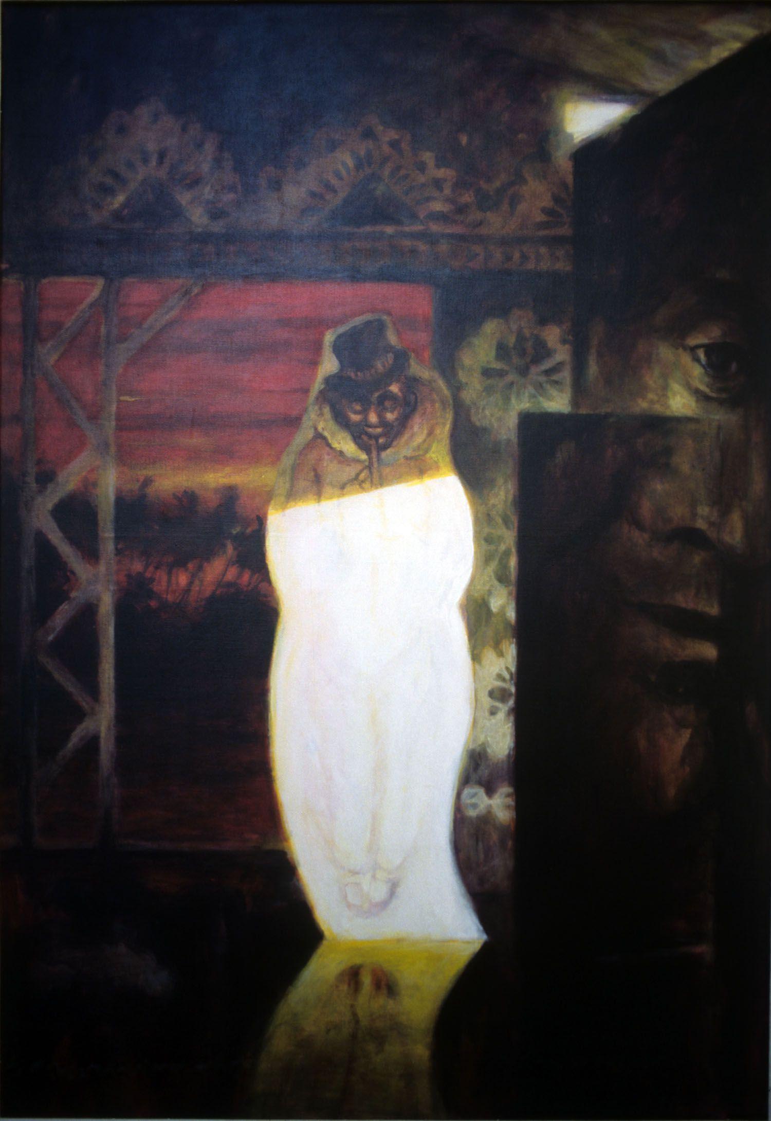"""The Romancing"" 1995. Acrylic on linen. 137 x 91cm"