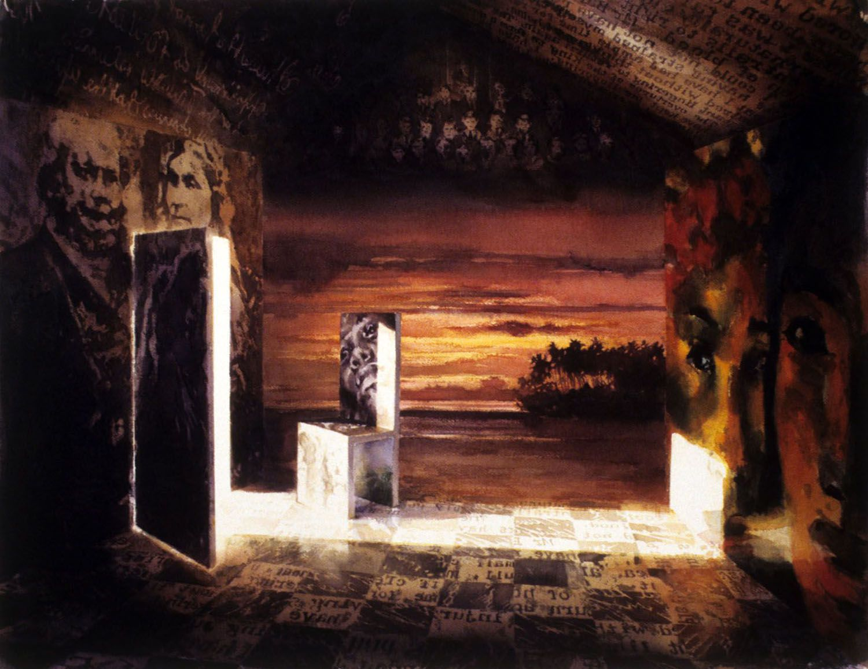 """""""Passages"""" 1996. Watercolour on 300gms Arches paper. 78 x 103cm"""