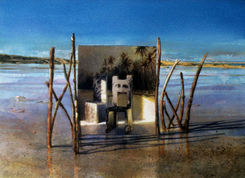 """The Shore"" 1997. Watercolour on 300gms. Arches paper. 28 x 41cm"