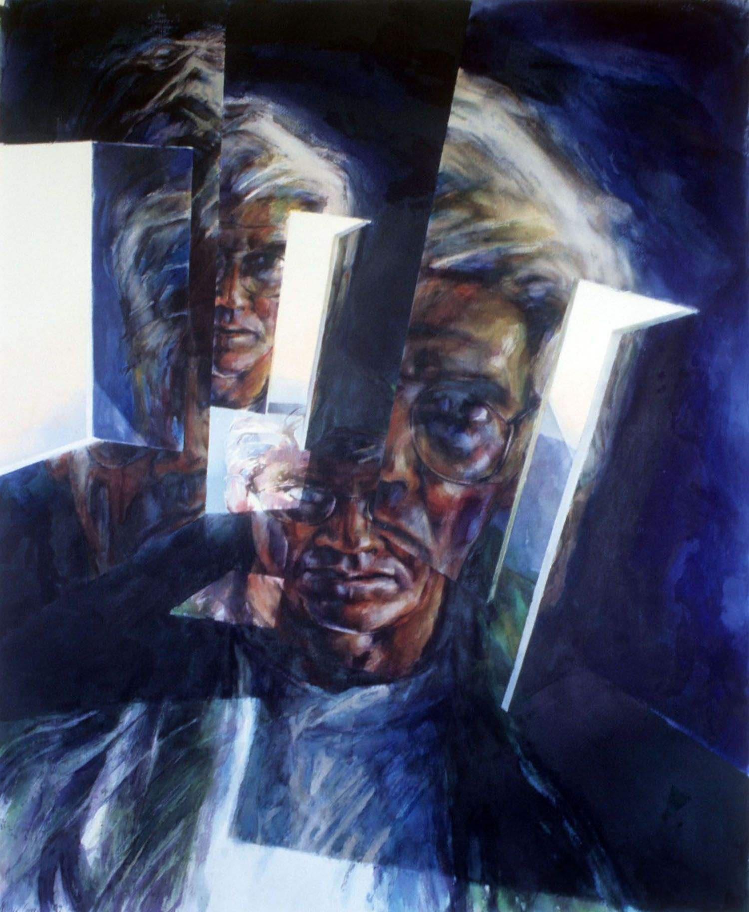 """""""Self portrait"""" 1997. Watercolour on 300gms Arches paper. 134.5"""