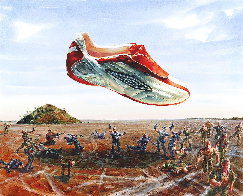 """""""Shootout on Lake Ballard"""" 2006, watercolour on 300gms Arches paper. 108 x 133cm"""