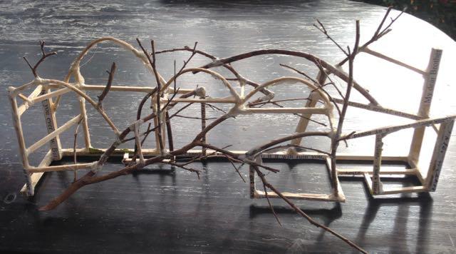 """""""Gippsland landscape"""" maquette, 2014."""